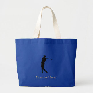 Golfer Large Tote Bag