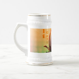 Golfer on a button with damasks decorated coffee mug
