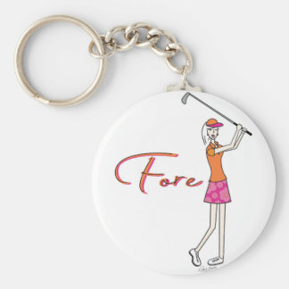 Golfer_Palm Beach Lady Collection Basic Round Button Key Ring