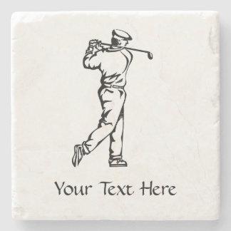 Golfer Personalized Stone Coaster