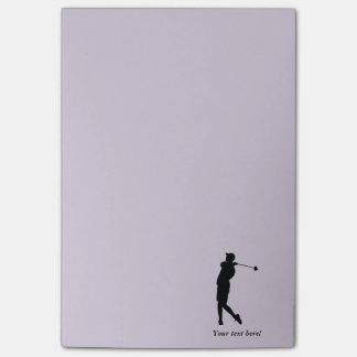 Golfer Post-it Notes