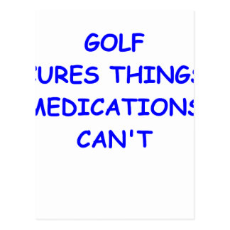 golfer post cards