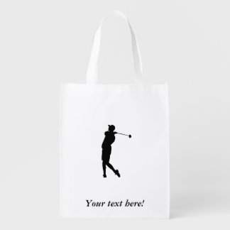 Golfer Reusable Grocery Bag