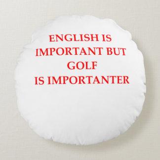 golfer round cushion