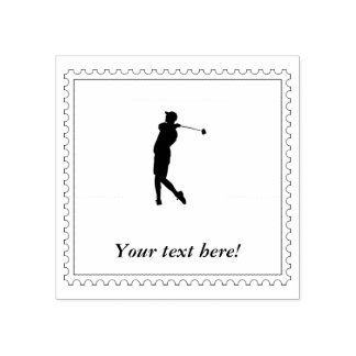 Golfer Rubber Stamp