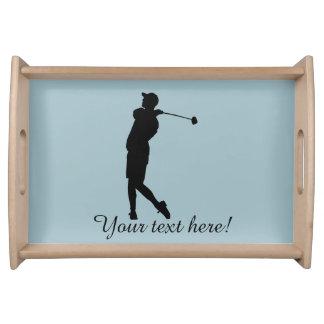Golfer Serving Tray