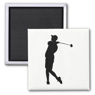Golfer Silhouette Magnet