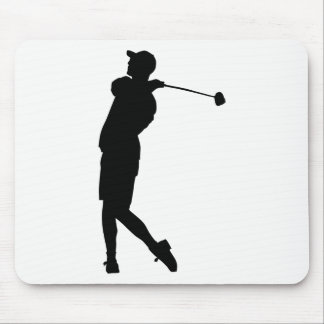 Golfer Silhouette Mouse Pad