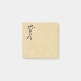 Golfer Sport Design Leather Look Post-it Notes