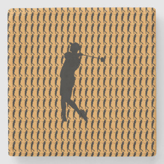 Golfer Stone Beverage Coaster