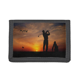 Golfer Sunset custom monogram wallets