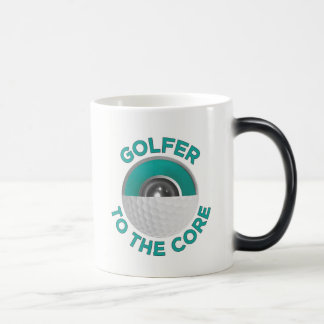 Golfer To The Core Two-Tone Mug