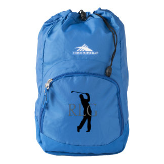 Golfer with Monogram Customize Backpack