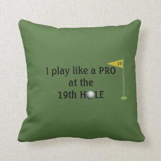 Golfer's 19th Hole Throw Pillow