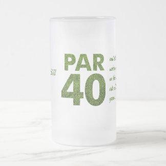 Golfers 40th Birthday Party Coffee Mugs