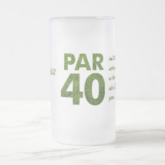 Golfers 40th Birthday Party Frosted Glass Mug