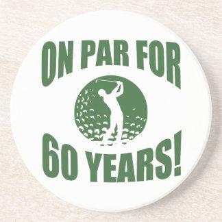 Golfer's 60th Birthday Coaster