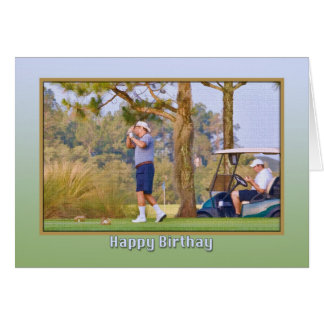 Golfer's Birthday Card