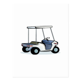 Golfers cart post cards