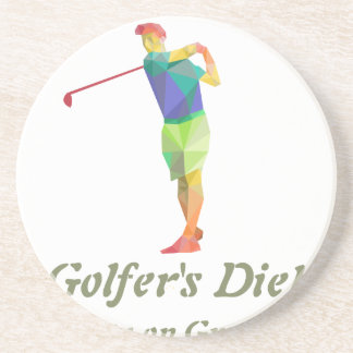 Golfers Diet - Live on Greens Coasters