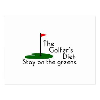 Golfers Diet Postcard