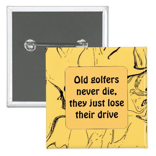 golfers funny button
