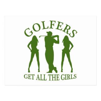 Golfers Get All The Girls Postcard