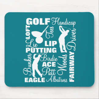 Golfers Golf Terminology Text Graphic Mouse Pad