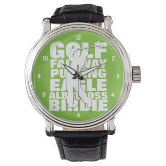 Golfers Golf Terminology Typography Watch