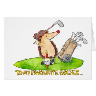 Golfer's Happy Birthday greeting card