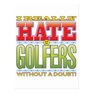 Golfers Hate Face Postcard