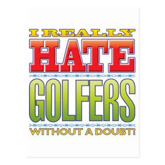 Golfers Hate Postcard