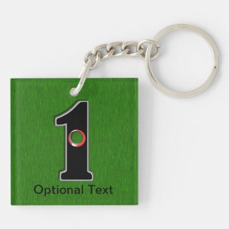 Golfers Hole in One Luck or Skill Square Acrylic Key Chains