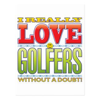 Golfers Love Face Postcard