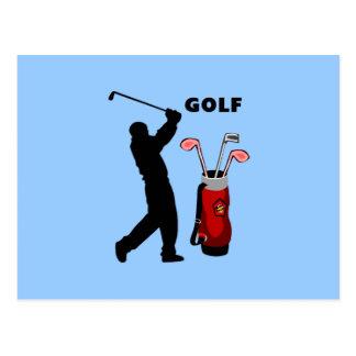 Golfers Postcard