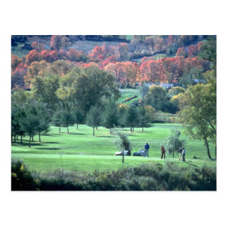 Golfers with fall foliage in background, Queechee, Post Cards