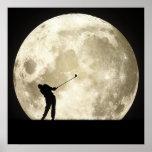 Golfing At Night Poster