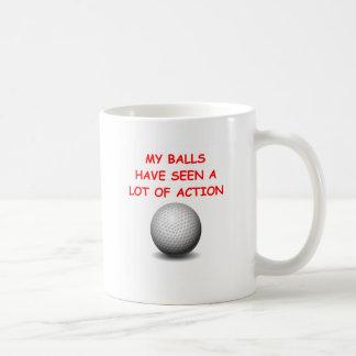 golfing basic white mug