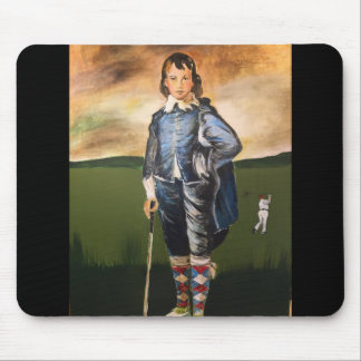 Golfing Blue Boy mouse pad
