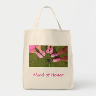 Golfing Bridal Party in Hot Pink Tote Bag