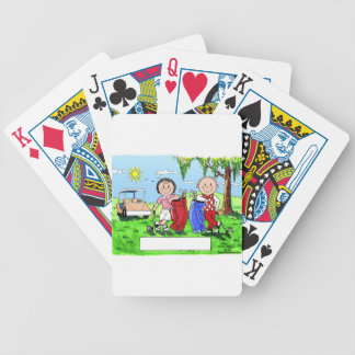 Golfing Couple - Personalized Cartoon Bicycle Playing Cards
