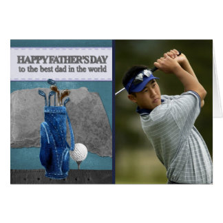Golfing Dad | Golfer Photo Happy Father's Day Card