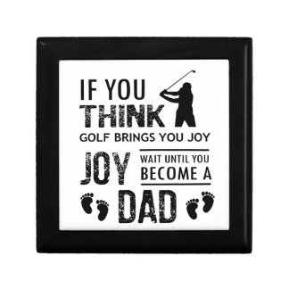 Golfing Dad Small Square Gift Box