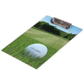 Golfing Dads Ball on Golf Course Clipboard