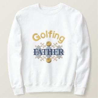 Golfing Father Embroidered Sweatshirt