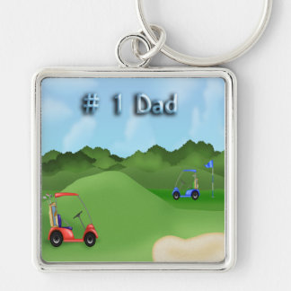 Golfing Father s Day Key Chain