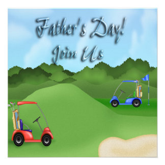 Golfing Father's Day Party Invitations