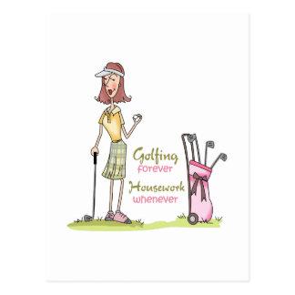 Golfing Forever Postcard