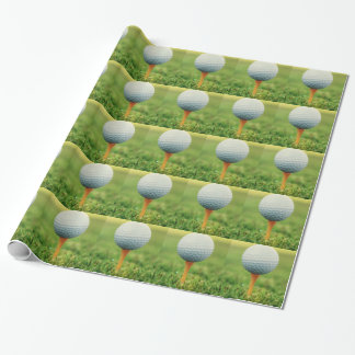 Golfing - Golf Ball on the Tee Wrapping Paper