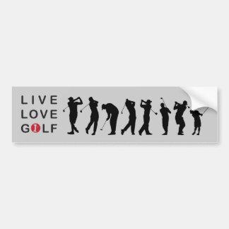 Golfing Golf Bumper Sticker